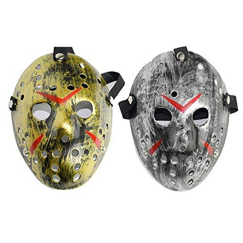 Tingz 2Pcs Halloween Scary Gesichtsmasken,Freddy Erwachsene Maske Killer Maske Cosplay Horror Herren Damen Kostüm Prop Festival Maske