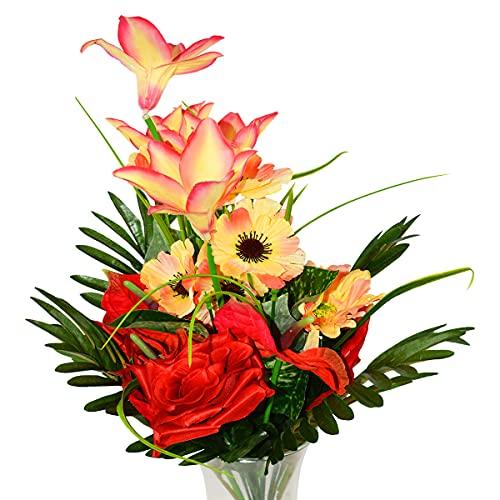 Flores Artificiales Para Cementerio De Plastico flores artificiales  Marca Rabbihom