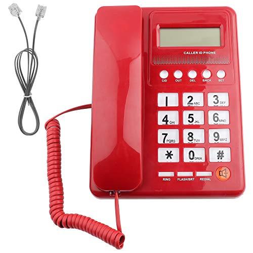 Yosoo Health Gear Telephone Caller ID Displays, Home Hotel Wired Corded Telephone Desktop Phone Office Landline Fixed Telephone Caller ID