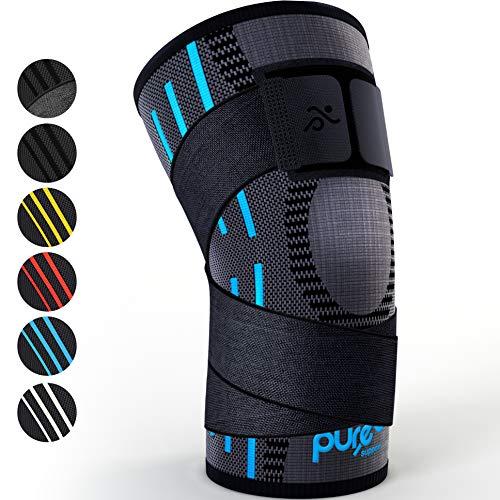 Kniebandage Kompressionsbandage | Patella-Stabilisator für Meniskusriss | Arthritis-Schmerzen beim Laufen | Crossfit | Sport | Damen | Herren