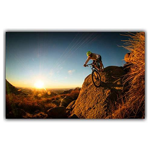 Wwjwf Mountainbike Wettbewerb Poster Custom Home Dekoration Mode Wand Poster Auto Design Tapete 50X80Cm Kein Rahmen
