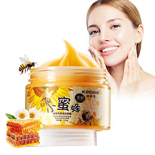 Masque pour le visage hydratant au lait de miel, 140 ml - Masque pur soin quotidien pour la peau, miel brut biologique calmant et nourrissant, exfoliant, calme et équilibre la peau