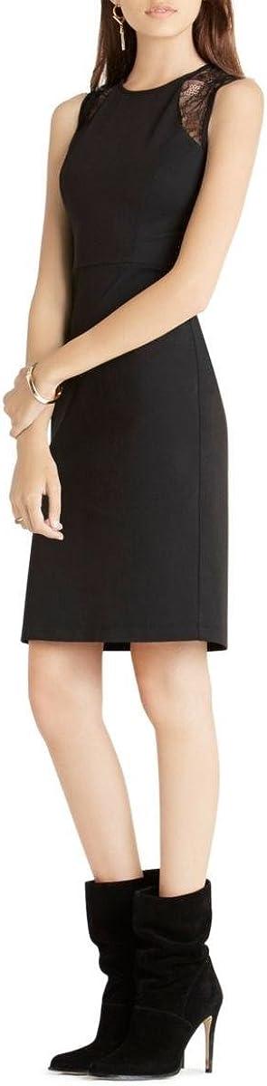 BCBGeneration Women's Sleeveless Sheath Dress with Lace Detail