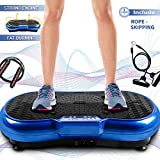 Bigzzia Vibration Platform with Rope Skipping, Whole Body Workout Vibration Fitness Platform Massage Machine for Home Training and Shaping, 99 Levels (Blue) from Bigzzia