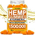 Hemp Gummiés with Turmeric & Bioperine 1,500,000, 100% Natural Organic Hemp Gummiés Made in USA