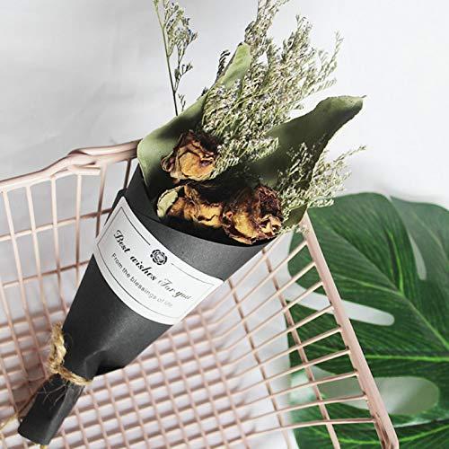 Uxsiya Ramo de flores secas exquisitas para embalar (rosa de eucalipto)