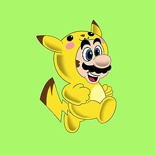 ビニールステッカー–pika-plumberアニメ&ゲームパロディ