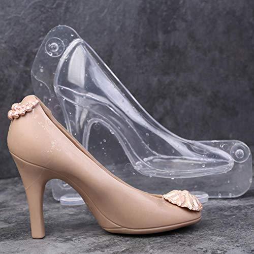 Fondant Schuh Schokoladenform High Heel 3D Nette Kandiszucker Paste Form für Kuchen Dekorieren DIY Hause Backenwerkzeuge, Mitte