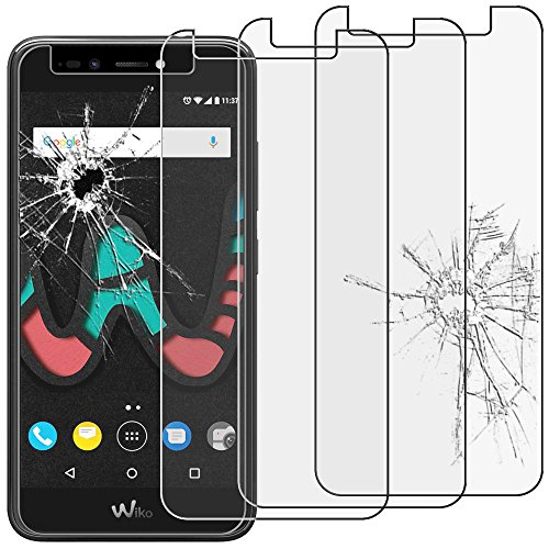 ebestStar - kompatibel mit Wiko Upulse Lite Panzerglas x3 Schutzfolie Glas, Schutzglas Bildschirmschutz, Bildschirmschutzfolie 9H gehärtes Glas [Phone: 144 x 72 x 8.4mm, 5.2'']