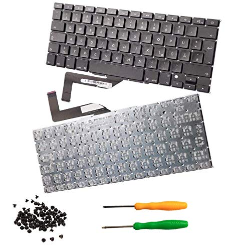 THE TECH DOCTOR Replacement Internal Keyboard QWERTZ German Layout for Apple MacBook Pro Retina A1398 15' 2012-2015 Model.