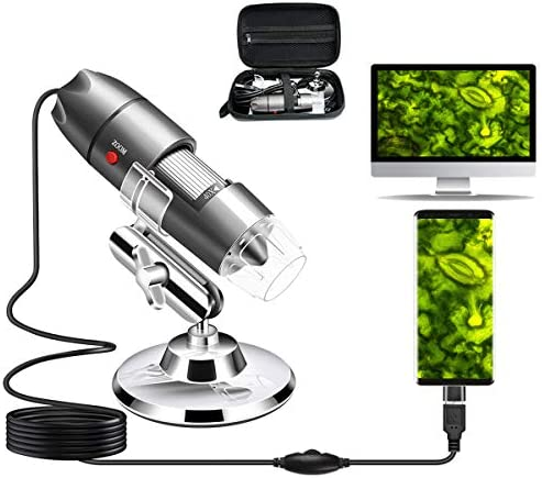 USB Microscope Camera 40X to 1000X Cainda Digital Microscope with Metal Stand Carrying Case product image
