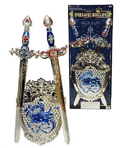 Sandy - Set 2 épées 50 cm et bouclier chevalier