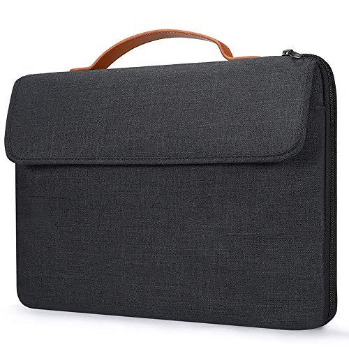 GVDV 15,6-Zoll-Laptop-Hülle mit Griff - wasserdichte, stoßfeste Laptop-Tasche Aktentasche mit Zubehörfach, Kompatibel mit HP Dell Asus ThinkPad Samsung Chromebook, Schwarz