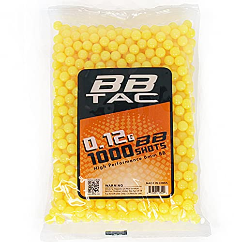 BBTac 1000 Bag .12g 6mm BBs for Airsoft Guns