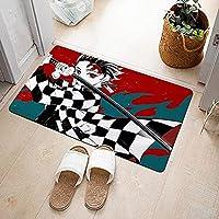 恶魔杀手地毯动漫儿童地毯房间装饰生日礼物 20x32 英寸-A_40X60cm