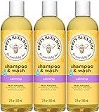 Burt's Bees Baby Shampoo & Wash, Calming Tear Free Baby Soap - 12 Fl Oz Bottle (Pack of 3)
