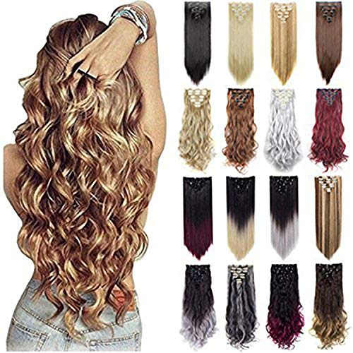 Price comparison product image Grade 7A 160g 23-24 Inch Real Thick Double Weft Clip In Hair Extensions