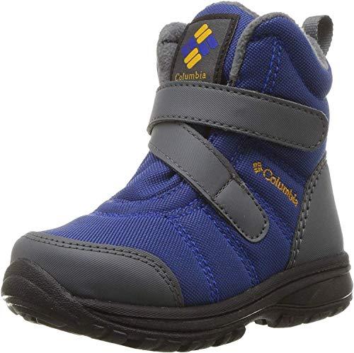 Columbia Childrens Fairbanks, Chaussures de Randonnée Basses, Bleu (Azul, Squash), 25 EU