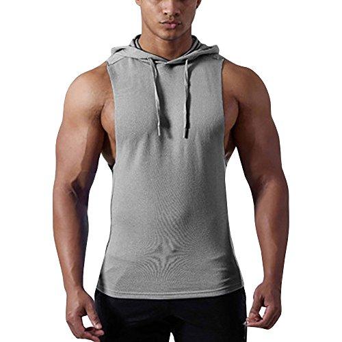 Herren Bodybuilding Tank Top Muskelshirt Training Sport Vest Weste Hoodie