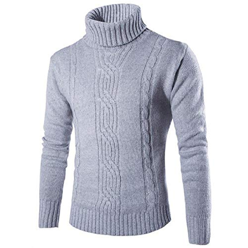 Nobrand Herren Casual Cardigan-Pullover, V-Ausschnitt, Plaid Slim Fit Strick Herbst Winter Herren Dick Pullover Mantel Cardigan Gr. X-Large, hellgrau