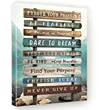 Inspirational Wall Art for Your Home Motivational Canvas decor for Office Bedroom Bathroom Living room Dorm Cubicle Positive Quotes 12'Wx16'H