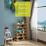 GCP Shoe Rack, Bamboo Shoe Rack Organiser-3-6 Tier Multifunctional Storage Shelf-Good For Hallway Living Room Bedroom,6layers