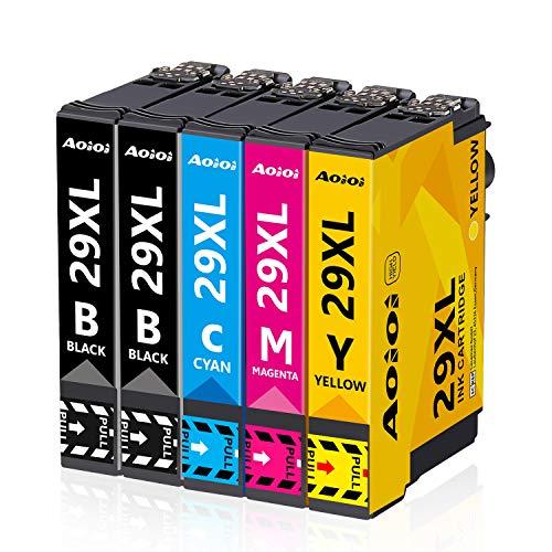 AOIOI 29XL Druckerpatronen Ersatz für Epson 29 29XL Patronen Kompatible für Epson Expression Home XP-342 XP-245 XP-442 XP-235 XP-335 XP-432 XP-435 XP-332 XP-345 XP-247 XP-445 (5-Pack)