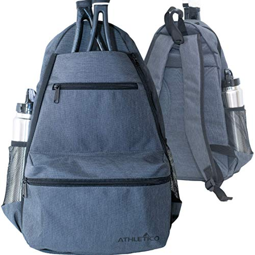 Athletico Compact City Tennis Backpack (Gray)