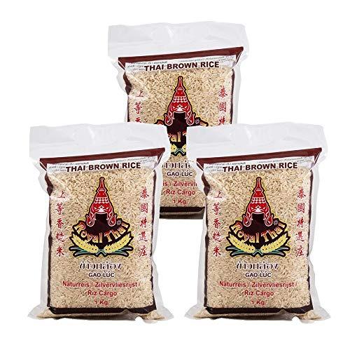 Royal Thai Braunreis Naturreis 1kg, 3er Pack, (3x1000g)