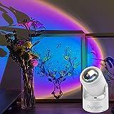 DigHealth Sunset Lamp Lampada Proiettore Tramonto, Ruotabile di 180 ° Lampada Proiezione Arcobaleno Romantico, Alimentazione USB, LED Atmosphere Fotografia Lamp per Camera Letto, Decorazione Partito