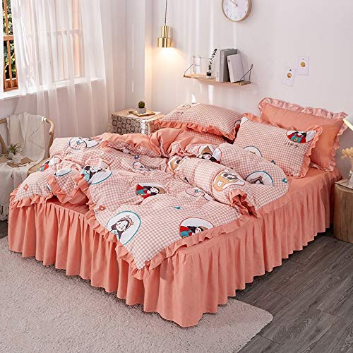 CYGJ Four-piece set of soft and comfortable cotton beddinglittle girl1.8m four-piece set