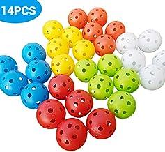ExH 14 stuks golftrainingsballen, 42 mm dikke holle plastic golftrainingsballen voor swing praktijk rijden bereik thuis in...