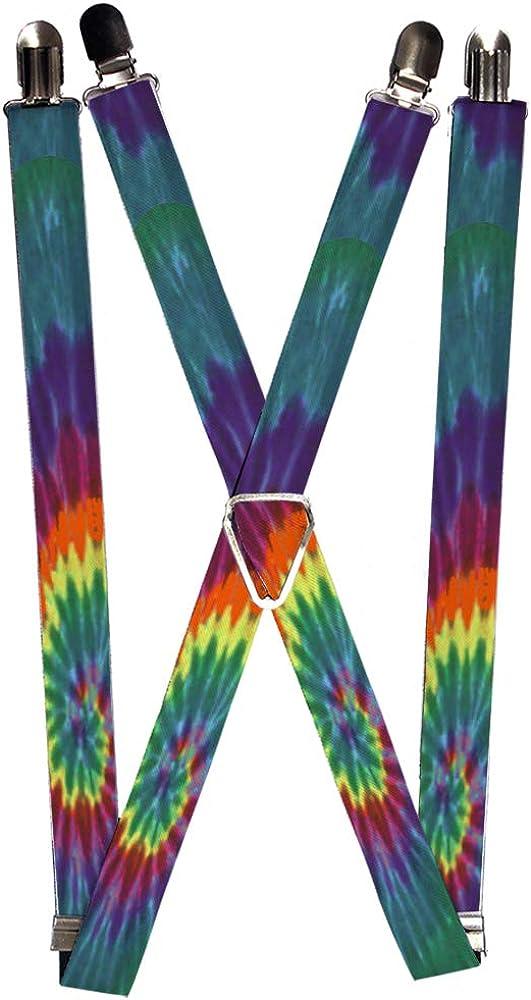 Buckle-Down Unisex-Adult's Suspender-Tie Dye