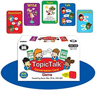 Super Duper Publications TopicTalk Conversation & Social Skills Card Game with Five Minute Timer Educational Learning Resource for Children