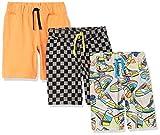 Spotted Zebra Knit Jersey Play Shorts Pantalones Cortos, 3-Pack Checkerboard Kicks, S