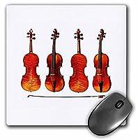 3drose LLC 8x 8x 0.25インチマウスパッド、Great Stradivarius Violin ( MP _ 62210_ 1)
