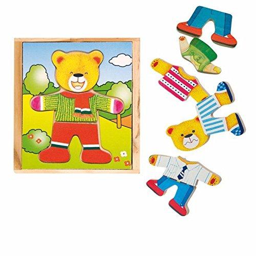 Hape International Woody 90010 Puzzle hölzernes Ankleide Bär