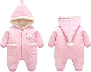 HUHUXXYY Infant Baby Boy Girl Winter Thick Romper Outwear Hooded Snowsuit Jumpsuit