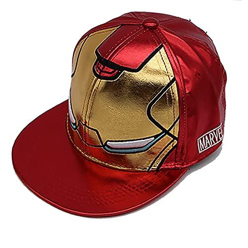 PRETAY Marvel-Avengers Iron Man Baseball Kappe,Marvel Logo Baseball Cap, Verstellbar Atmungsaktiv Black Panther und Captain America Motiv für Kinder,Jungen und Mädchen Hat Cosplay Zubehör