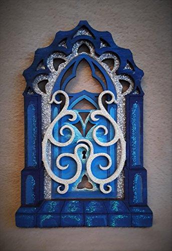 Frozen 'Ice Gate' Handgemalt Glitter Fee Tür