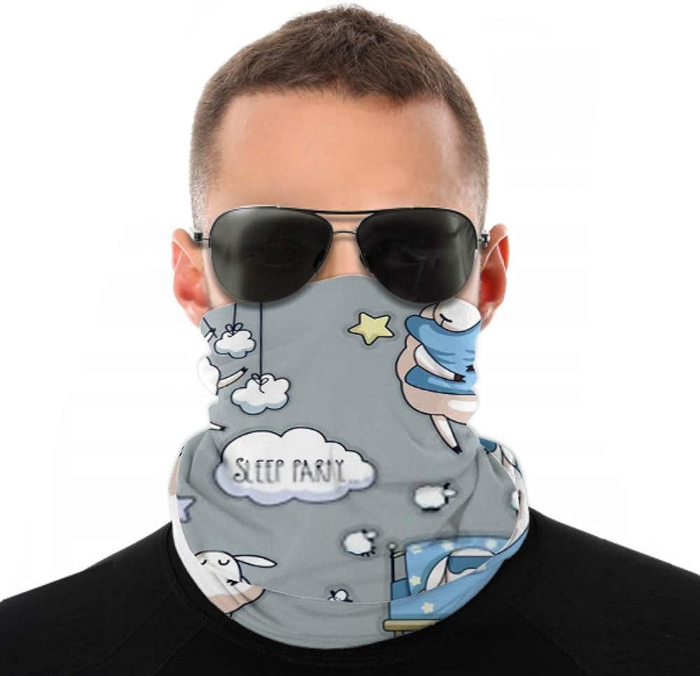 Headbands For Men Women Neck Gaiter, Face Mask, Headband, Scarf Cute Cartoon Sheep Vector Sleep Party Turban Multi Scarf Double Sided Print Women Headbands For Sport Outdoor