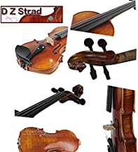 D Z Strad Violin LC101 Full Size 4/4 with case, shoulder rest, bow, and rosin