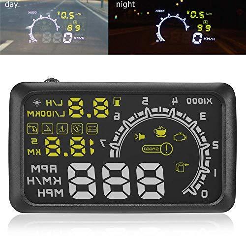 14cm Auto OBDII OBD2Port Auto HUD Head Up Display KM/H MPH Overspeed Achtung Windschutzscheibe Projektor Alarm System