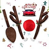 Rentier Auto Rudolf, yotame Auto Weihnachten deko für Auto Rentier kostüm weihnachtsdeko Rentier Kostüm Auto Rudolf für alle Fahrzeuge, PKWs, LKWs, SUVs usw
