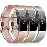 Pack 3 Silicone Bands Compatible with Fibit Inspire HR / Fitbit Inspire /
