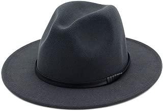 XinLin Du Women Men Wool Fedora Hat Gentleman Elegant Lady Winter Autumn Wide Brim Jazz Church Panama Sombrero Cap