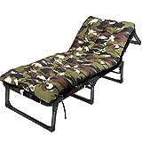 Axdwfd Tumbona Tumbona, sillón con Almohadas y Almohadilla Gruesa Opcional Respaldo Ajustable 6 Posiciones Reclinable portátil (Color : Green, Size : with A Mattress)