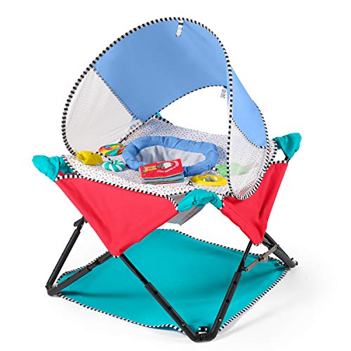 Summer Infant Pop 'N Jump SE Portable Activity Center for Indoor/Outdoor Use -Fast/Easy and Compact Fold, Sweets & Treats