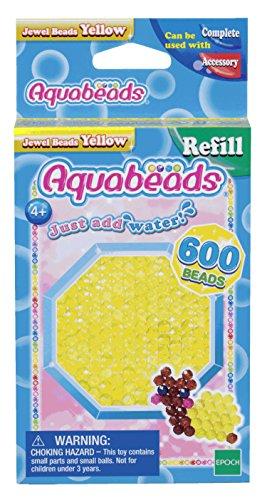 Aquabeads 32688 Gelbe Glitzerperlen - Nachfüllset