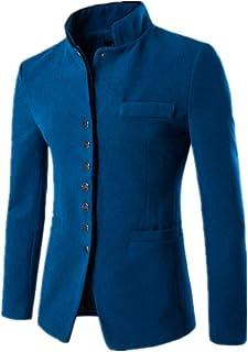 Men Jacket Men Jacket Casual and Comfortable Button Type Men Jacket Autumn New Pure Color Simple Men Transition Jacket Sof...